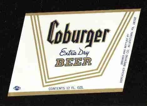 COBURGER Extra Dry Beer Label /12oz