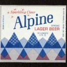 ALPINE Strong Lager Beer Label / 12oz