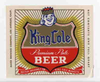 KING COLE Premium Pale Beer Label / 32oz