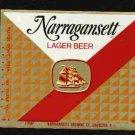 NARRAGANSETT Lager Beer Label /16oz.