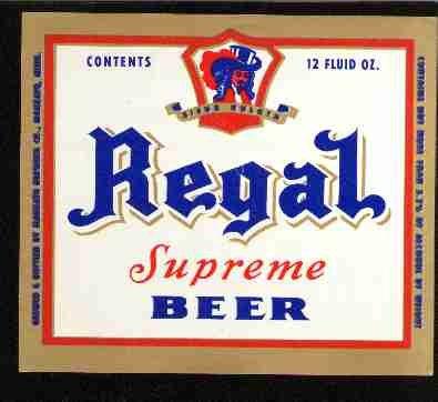 REGAL Supreme Beer Label / 12oz