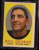 1958 Topps F.B. BILL GEORGE  Cd#119  VG-EX Con.