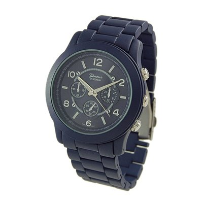 Geneva Platinum Blue Ceramic-Style Watch GP9201