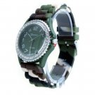 Geneva Platinum Camo Strap Silicone Jelly Watch GP6886