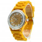 Geneva Platinum Mustard Silicone Jelly Watch GP6886