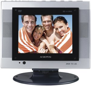 """FPE1080 8"""" Flat Panel LCD TV with Built-In DVD Player"""