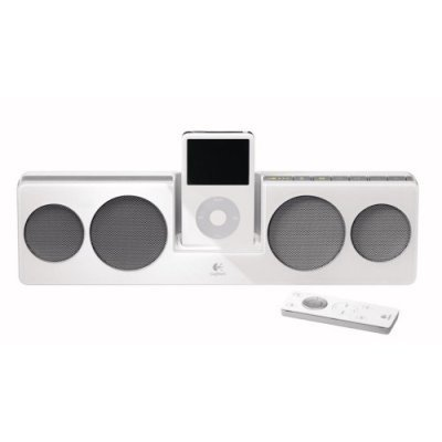Logitech 984-000005 Pure-Fi Anywhere Compact Speakers for iPod (White)