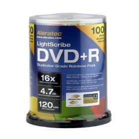 Aleratec 300115 16x LightScribe Duplicator Grade DVD+R (600 Pack)