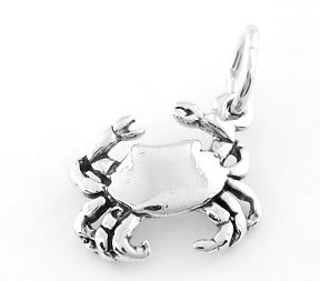 STERLING SILVER CRAB CHARM/PENDANT