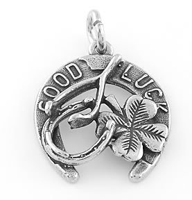 STERLING SILVER GOOD LUCK CHARM CHARM/PENDANT