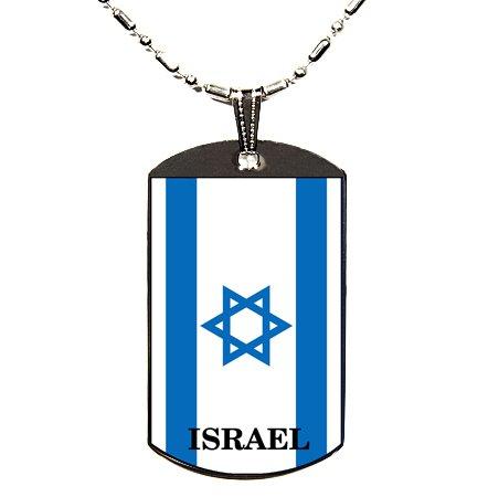 Israel Flag Polymer Glazed Dogtag Dog Tag