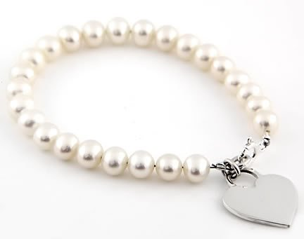 STERLING SILVER FRESHWATER PEARL CHILD BRACELET 4.5""
