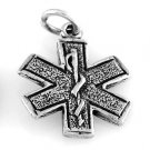 STERLING SILVER MEDICAL/ PARAMEDIC SYMBOL CHARM