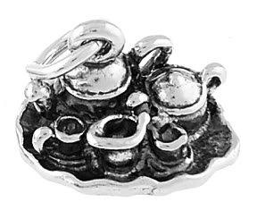 STERLING SILVER TEA POTS / CUP SET CHARM/PENDANT