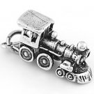 STERLING SILVER 3D LOCOMOTIVE TRAIN ENGINE CHARM