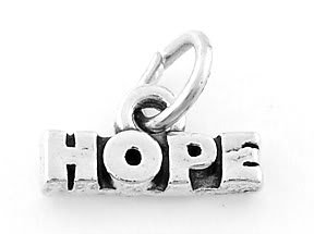 STERLING SILVER HOPE CHARM/PENDANT