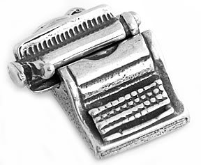 STERLING SILVER 3D TYPEWRITER CHARM