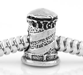 STERLING SILVER GUIDING LIGHTHOUSE EUROPEAN BEAD
