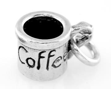 STERLING SILVER COFFEE CUP/ MUG CHARM/PENDANT