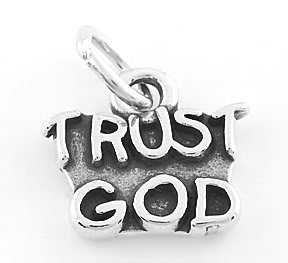 STERLING SILVER TRUST GOD CHARM/PENDANT