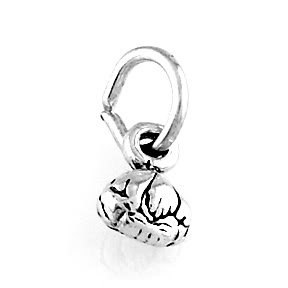 "STERLING SILVER GARLIC BULB CHARM W/ 16"" BOX CHAIN"