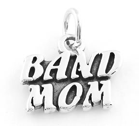 STERLING SILVER BAND MOM CHARM/PENDANT