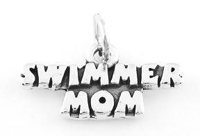 STERLING SILVER SWIMMER MOM CHARM/PENDANT