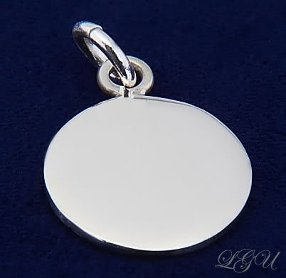 STERLING SILVER 12mm SM CIRCLE PENDANT