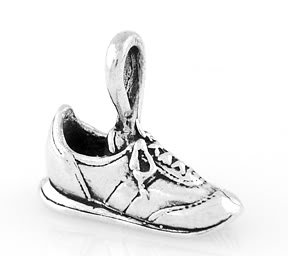 STERLING SILVER RUNNING / WALKING TENNIS SHOE CHARM