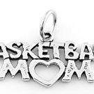 STERLING SILVER BASKETBALL MOM CHARM/PENDANT