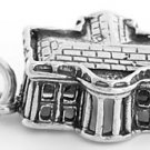 STERLING SILVER 3D WHITE HOUSE CHARM/PENDANT