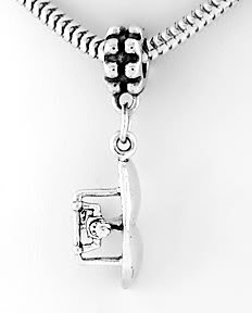 STERLING SILVER DANGLE HANG GLIDER EUROPEAN BEAD