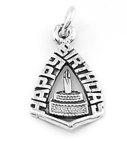 STERLING SILVER HAPPY BIRTHDAY CHARM/ PENDANT