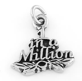 STERLING SILVER ONE IN A MILLION CHARM