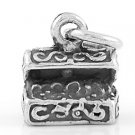 STERLING SILVER TREASURE CHEST CHARM/PENDANT