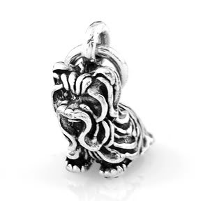 """STERLING SILVER YORKSHIRE TERRIER DOG CHARM WITH 16"""" BOX CHAIN"""