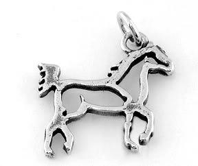 STERLING SILVER HORSE BODY FRAME CHARM/PENDANT