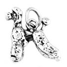 STERLING SILVER 3D FANCY POODLE DOG CHARM/PENDANT