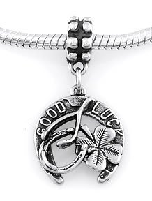 STERLING SILVER DANGLE GOOD LUCK ITEMS EUROPEAN BEAD