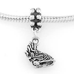 STERLING SILVER DANGLING TOY YORKSHIRE TERRIER DOG EUROPEAN BEAD