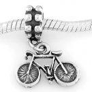 STERLING SILVER DANGLING BICYCLE EUROPEAN BEAD