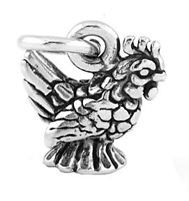 STERLING SILVER DELWARE'S STYLE STATE BIRD HEN CHARM