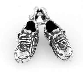 STERLING SILVER RUNNING TENNIS SHOES CHARM/PENDANT
