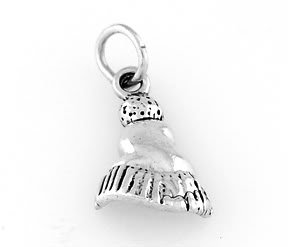 STERLING SILVER SNOW SKI SKIING HAT CAP CHARM