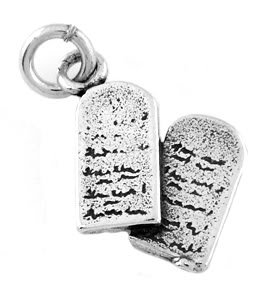 STERLING SILVER 10 COMMANDMENT TABLET CHARM/PENDANT