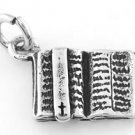 STERLING SILVER OPEN BIBLE CHARM/PENDANT