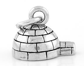 STERLING SILVER 3D IGLOO CHARM/PENDANT
