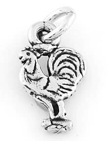 STERLING SILVER ROOSTER CHARM/PENDANT