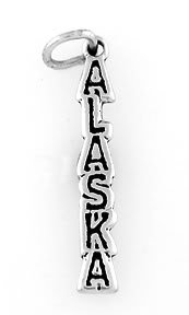 STERLING SILVER ALASKA TRAVEL CHARM