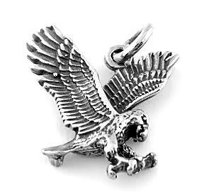 STERLING SILVER 3D EAGLE CHARM/PENDANT